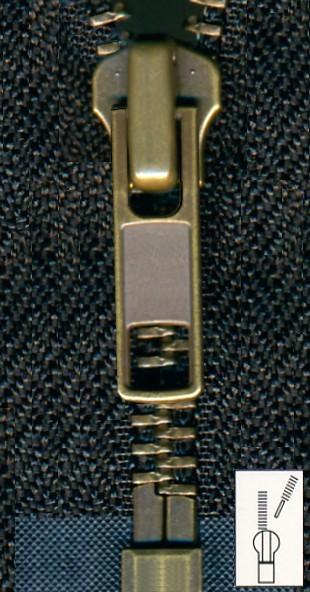 Reißverschluss Metall teilbar 120 cm
