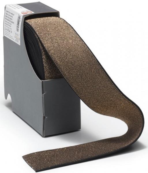 Prym Color-Elastic schwarz/gold 50 mm, 10 m