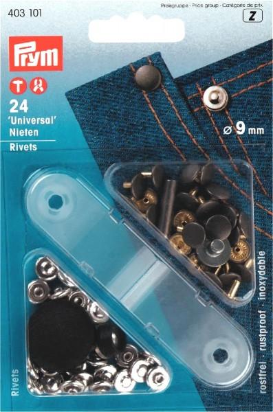 Prym Ziernieten 9 mm, 24 Stück