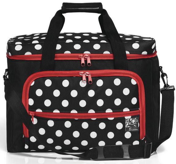 Prym Nähmaschinen-Tasche Polka Dots rot/weiß/schwarz