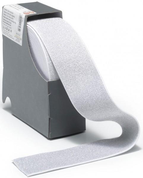 Prym Color-Elastic weiß/silber 50 mm, 10 m