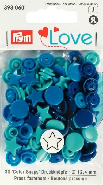 Prym Love Color Snaps Stern, 30 Stück