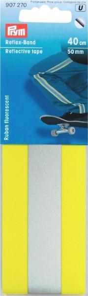 Prym Reflexband neongelb 50 mm, 0,4 m