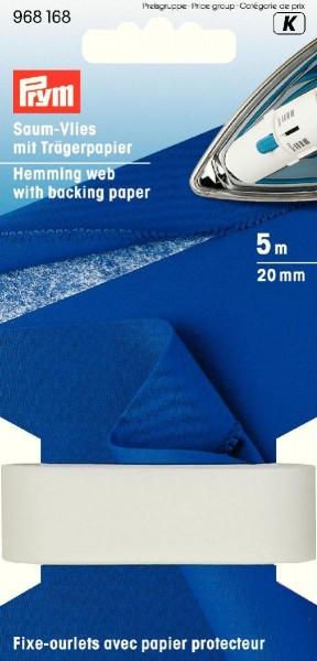Prym Saum-Vlies mit Trägerpapier 20 mm, 5 m