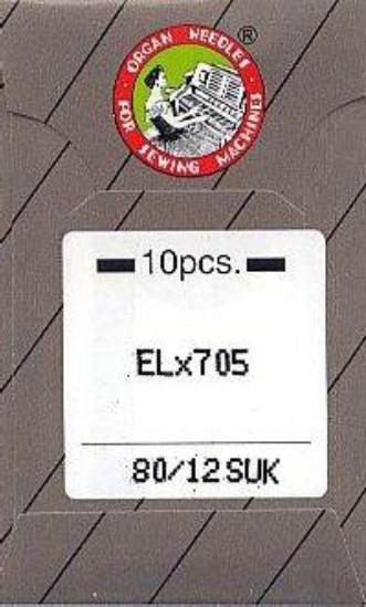 Maschinennadeln Organ ELx705 SUK Chromium