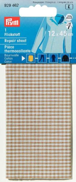Prym Flickstoff Baumwolle beige/weiß kariert 12 x 45 cm