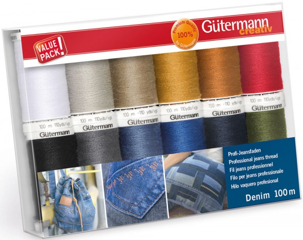 Gütermann Nähgarn-Set Denim 12 x 100 m