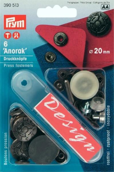 Prym Druckknöpfe Anorak Fusion 20 mm, 6 Stück