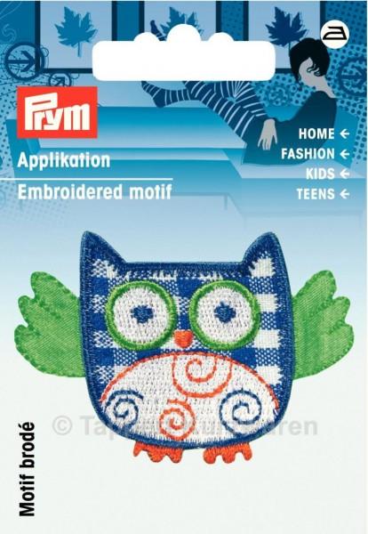 Prym Applikation Eule blau/grün