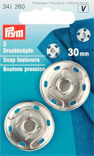 Prym Annähdruckknöpfe Metall 30 mm