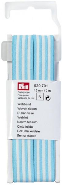 Prym Webband bleu/ecru 15 mm, 2 m