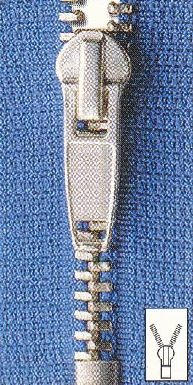 Reißverschluss Metall schmal unteilbar 18 cm