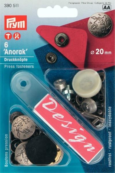Prym Druckknöpfe Anorak Excursion 20 mm, 6 Stück