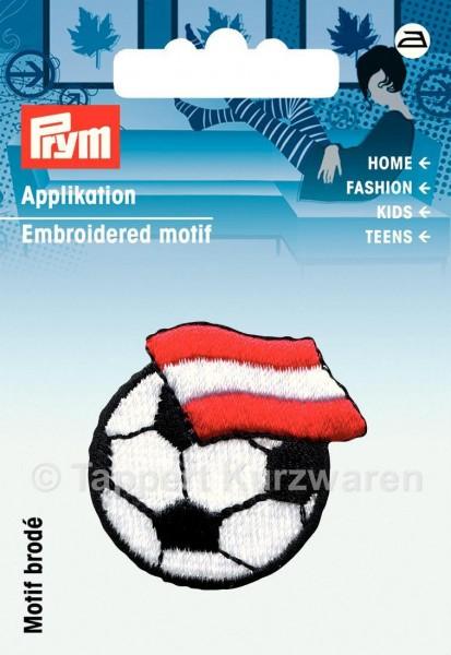 Prym Applikation Fussball mit Fahne Österreich