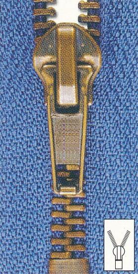 Reißverschluss Metall unteilbar 18 cm