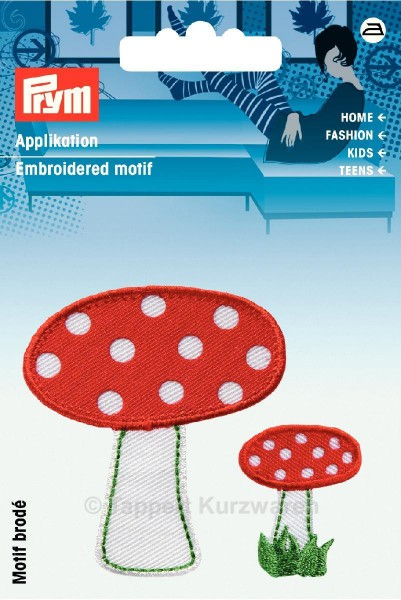 Prym Applikationen Pilze rot/grün/weiß