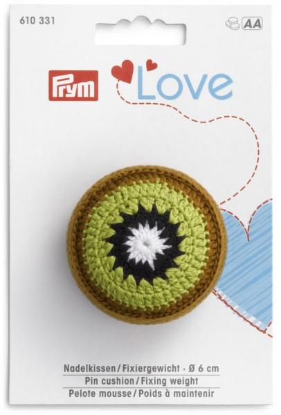 Prym Love Nadelkissen Kiwi mit Fixiergewicht