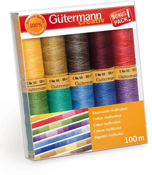 Gütermann Nähgarn-Set Baumwolle Multicolour 10 x 100 m