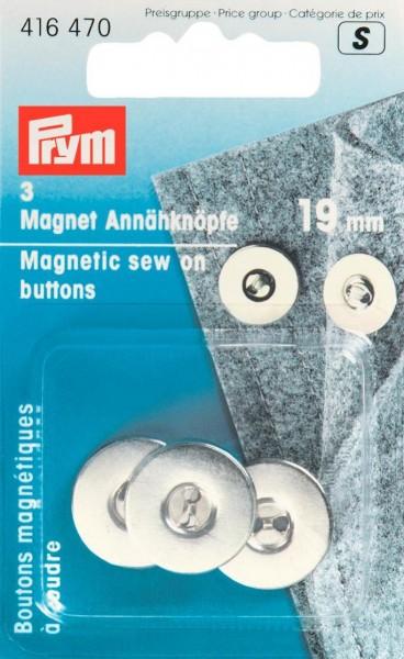 Prym Magnet-Annähknöpfe 19 mm, 3 Stück