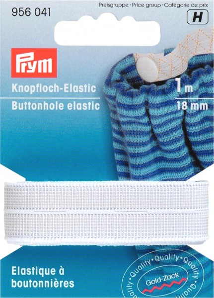 Prym Knopfloch-Elastic glatt 18 mm, 1 m