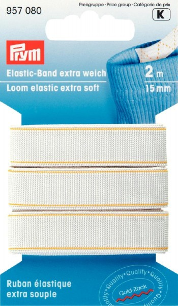 Prym Elastic-Band extra weich 15 mm, 2 m