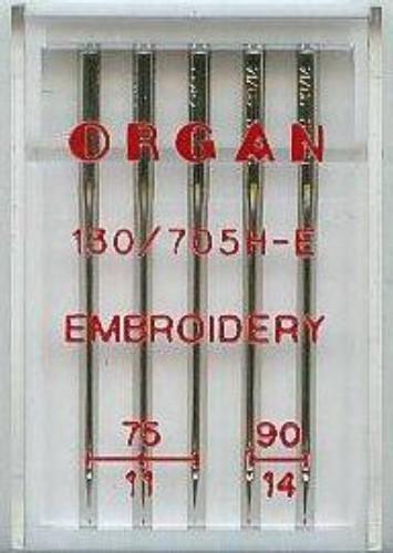 Maschinensticknadeln Organ 130/705 H-E Embroidery