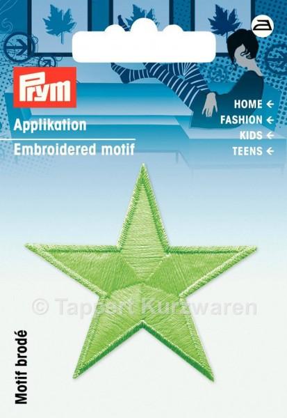 Prym Applikationen Stern selbstleuchtend grün (2 Stück)