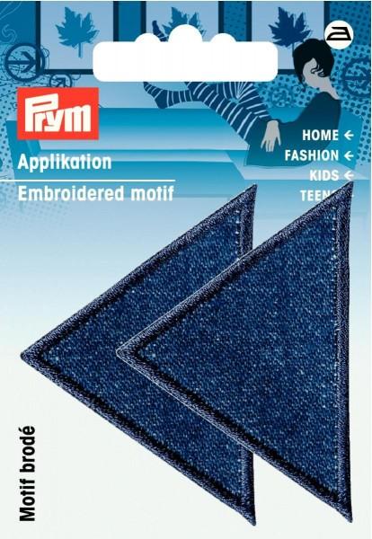 Prym Applikationen Dreiecke groß Jeans dunkel, 2 Stück
