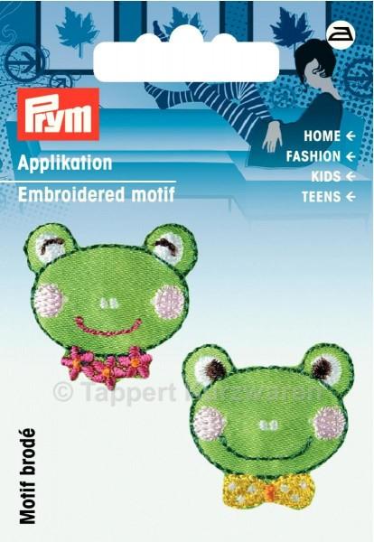 Prym Applikation Froschköpfe (2 Stück) grün