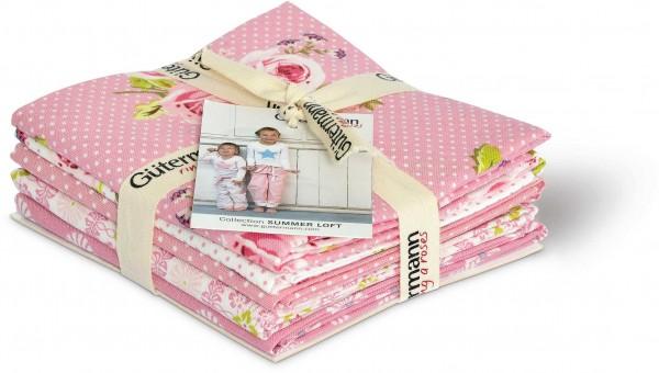 Gütermann Fat Quarter Bundle Summer Loft rosa