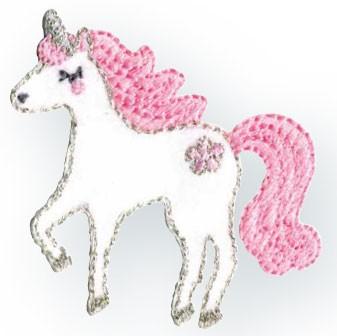 Prym Applikation Einhorn / Unicorn weiß/rosa