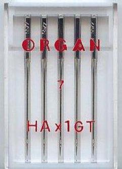 Maschinennadeln Organ 130/705 Seide HAx1 GT
