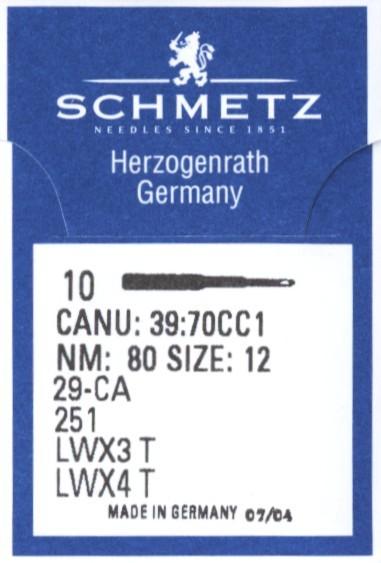 Maschinennadeln Schmetz LWx4T