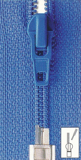 Reißverschluss Perlon extra schmal teilbar 80 cm