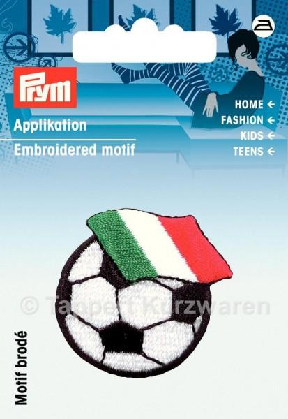 Prym Applikation Fussball mit Fahne Italien