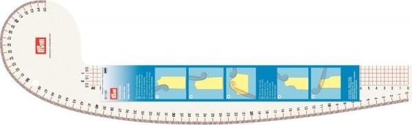 Prym Kurvenlineal Armloch und Armkugel 16 cm x 52,5 cm
