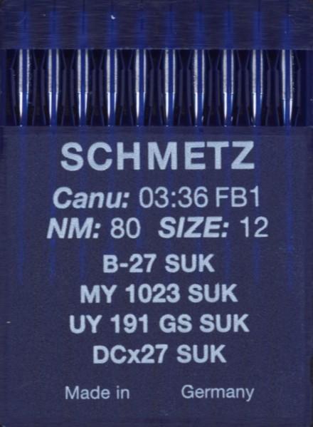 Maschinennadeln Schmetz B-27 SUK