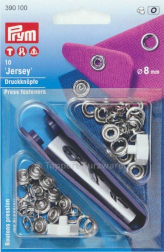 Prym Druckknöpfe Jersey Ring 8 mm, 10 Stück