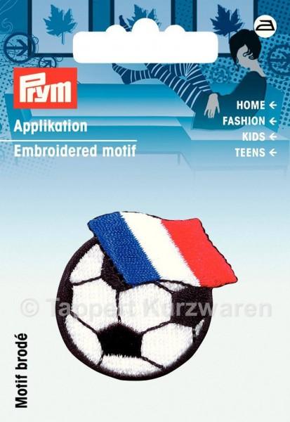 Prym Applikation Fussball mit Fahne Frankreich