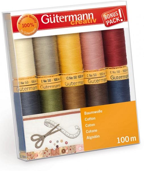 Gütermann Nähgarn-Set Baumwolle 10 x 100 m