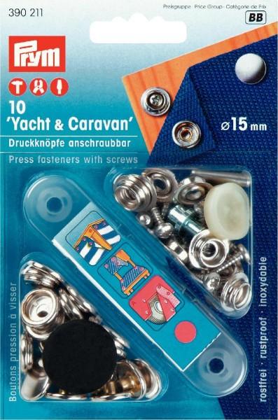 Prym Druckknöpfe Yacht & Caravan 15 mm, 10 Stück