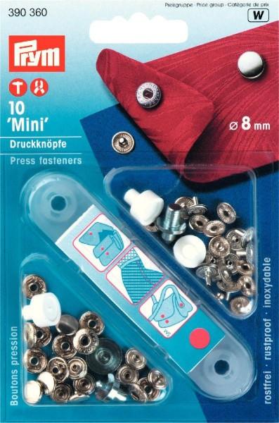 Prym Druckknöpfe Anorak Mini 8 mm, 10 Stück