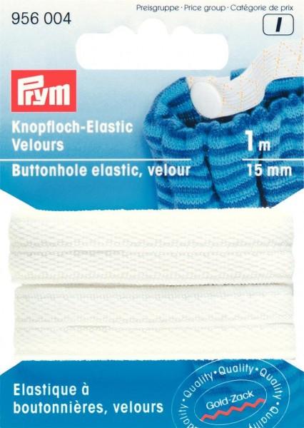 Prym Knopfloch-Elastic Velours 15 mm, 1 m