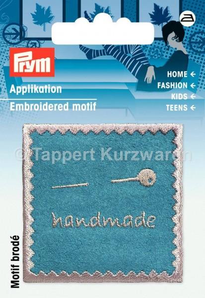 Prym Applikation Handmade Nähen türkis