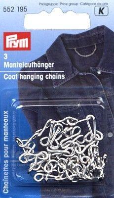 Prym Mantelaufhänger Metall, 3 Stück