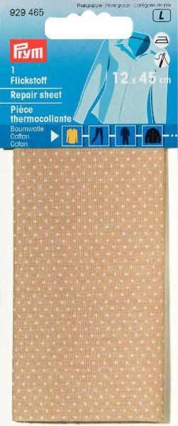 Prym Flickstoff Baumwolle beige/weiß gepunktet 12 x 45 cm
