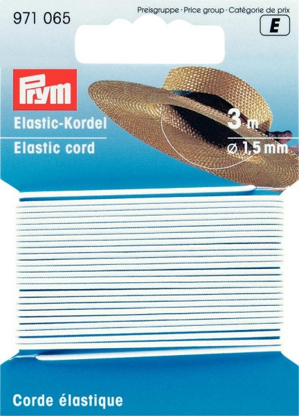 Prym Elastic-Kordel 1,5 mm, 3 m