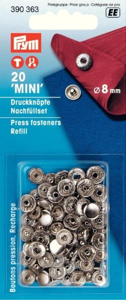 Prym Druckknöpfe Anorak Mini 8 mm, 20 Stück