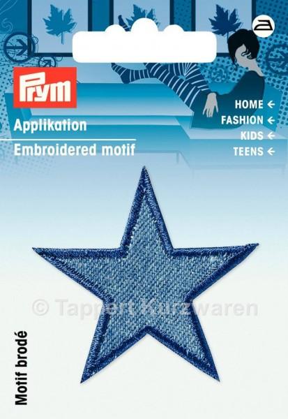 Prym Applikationen Sterne Jeans mittelblau (2 Stück)