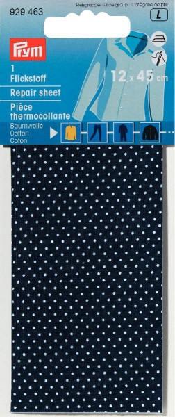 Prym Flickstoff Baumwolle blau/weiß gepunktet 12 x 45 cm